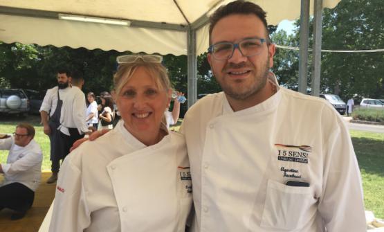 Agostino Iacobucci, motore dell'evento,con la collegaLucia Antonelli in una foto dell'edezione 2016