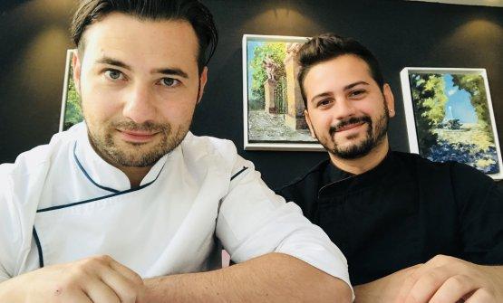 Lo chef Alessio Boldrin e il sous chef Giacomo Aricó