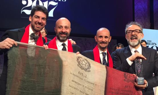 I quattro chef italiani (c'è anche Puglisi, ma sta a Copenhagen) tra i primi 50 del mondo: Alajmo, Romito, Crippa e Bottura