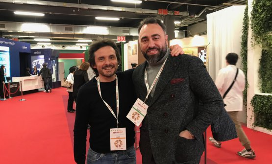 Antonio Zaccardi e Antonello Magistà fotografati a Identità Milano 2018