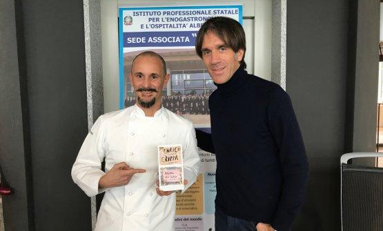Enrico Crippa e Davide Oldani al termine della lez