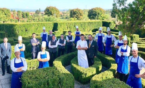 Boffanel giardino con brigata e staff