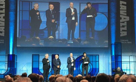 Ferran Adrià, Dante Ferretti, Federico Zanasi e Pierfrancesco Favino, che ha condotto la presentazione