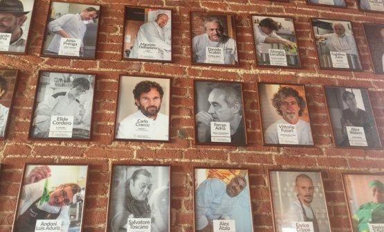 Alcuni degli chef protagonisti alle Tavole Accademiche