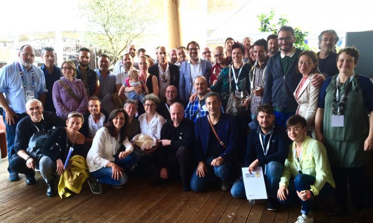 Foto di gruppo al termine del primo meeting di Fig