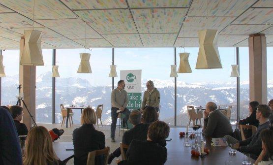 Norbert Niederkofler e Paolo Ferretti alla presentazione di Care's 2019