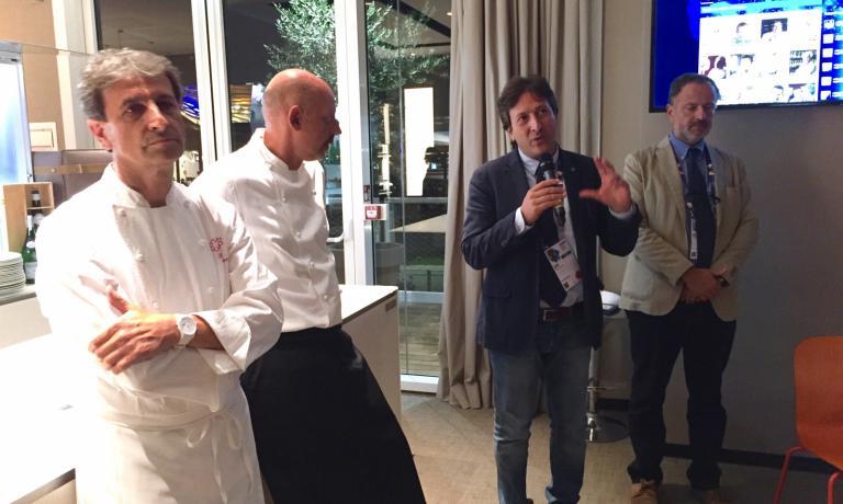 I due chef con Quirino Briganti e Carlo Hausmann
