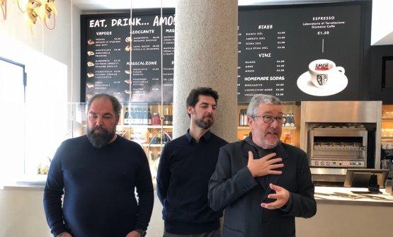Raffaele e Massimiliano Alajmo e Philippe Starck