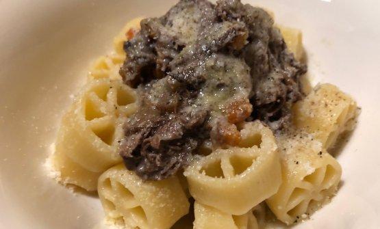 Ruote pazze alla genovese di pannicolo e parmigiano 24 mesi di Francesca Barreca e Marco Baccanelli di Mazzo a Roma (ristorante ora chiuso)