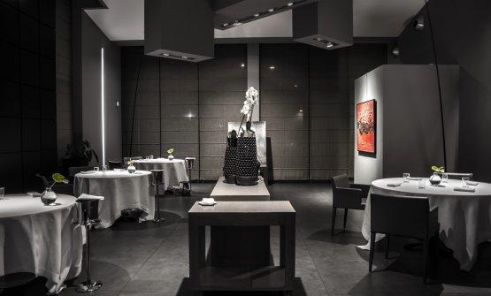 La moderna sala del ristorante Inkiostro