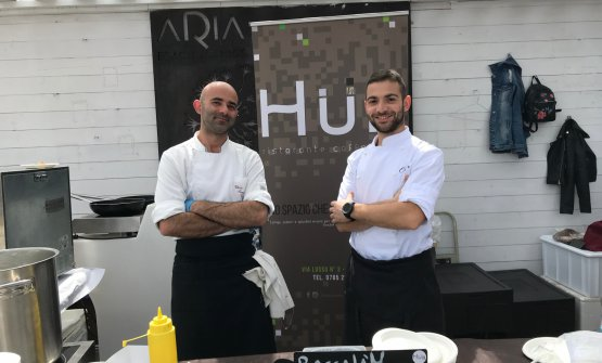Vittorio Manunza e Cristian Deriu: lavorano nella brigata dell'Hub guidata da Leonardo Marongiu