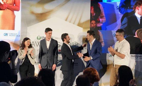 I rappresentanti dei tre ristoranti sul podio della people's choice: Momio, Il Ronchettino e Berberè