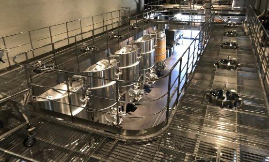 Le fasi di produzione avvengono tutte con il sistema a caduta, senza utilizzo di pompe
