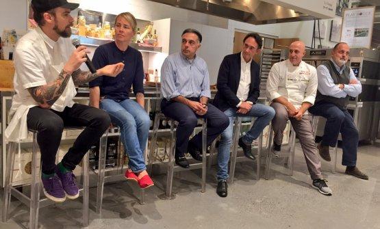 Fernando Darin, Sarah Minnick, Vince Gerasole, Piero Gabrieli, Corrado Scaglione andPaolo Marchi
