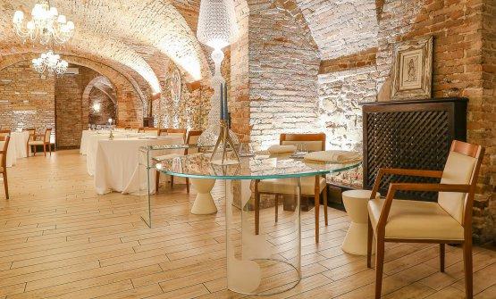 La bella sala del ristorante Lo Scudiero
