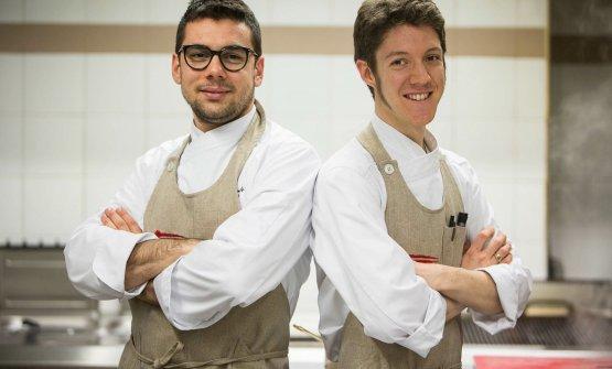 Lo chef Daniele Patticon Matteo Ambrosini, sous chef del ristorante