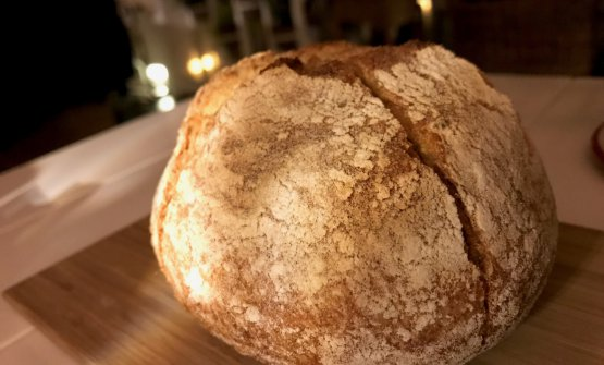...come anche il pane: 36 ore di maturazione, 12 di lievitazione con lievito madre, 70% di farina di grano Senatore Cappelli, 30% di Maiorca