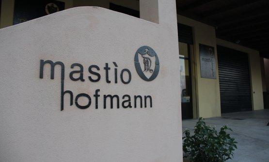 L'ingresso della cantina Mastìo Hofmann