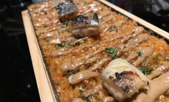 Arroz seco with duck and eel