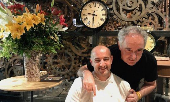 Federico Zanasi e Ferran Adrià: ha aperto il loro Condividere a Torino