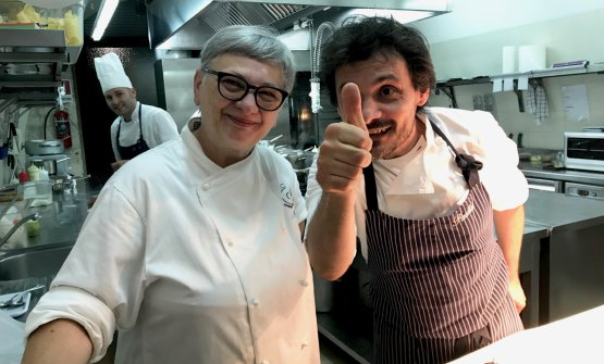 Maria Cicorella e Antonio Zaccardi nelle cucine de