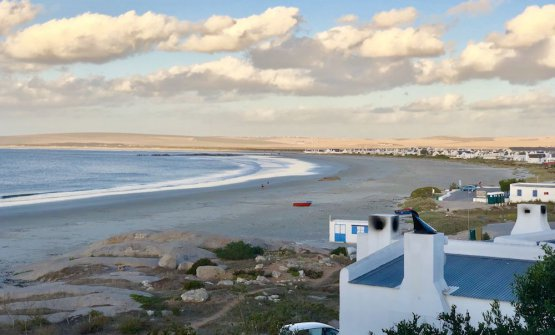 The view from restaurant Wolfgat in Paternoster,