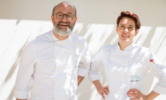 Gli executive chef Gianluca Cataldi e Emilia Iacono