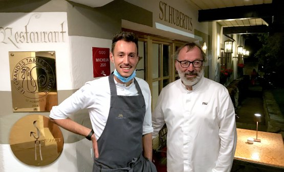 Niederkofler with his sous chef Michele Lazzarini