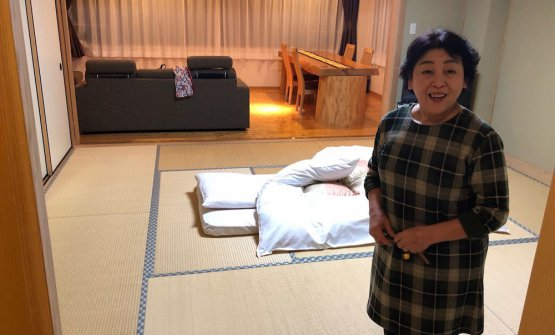 La proprietaria dell'hotel