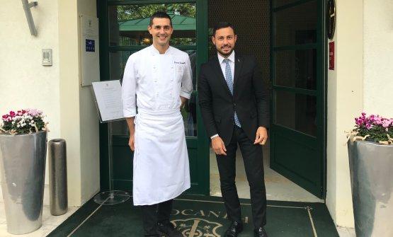 Lo chef Edoardo Fumagalli e il restaurant manager