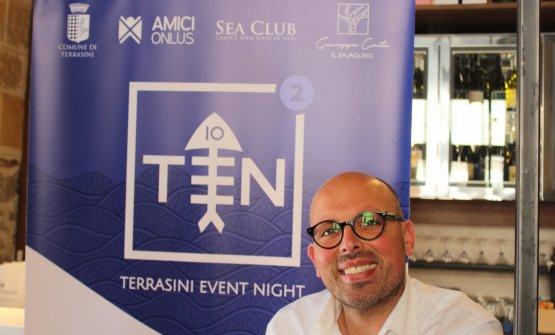 Lo chef Giuseppe Costa alla presentazione di Ten 2019