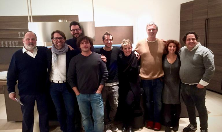 Foto di gruppo al termine della presentazione del