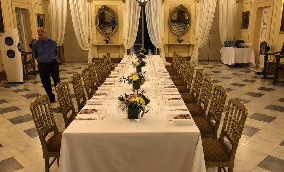 La tavola apparecchiata aPalazzo Verdala