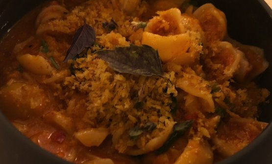 Of course there's an Italian influence: Orecchiette with blue lobster, 'nduja and Thai chili
