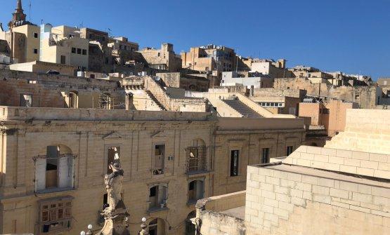 La vista dall'hotel sul retro