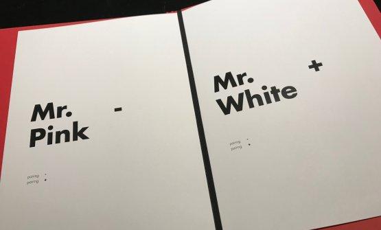 I due menu degustazione, Mr Pink e Mr White