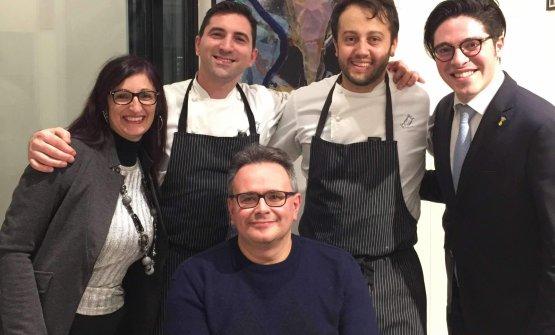 Felice Marchioni con Fabio Pisani, Alessandro Negrini e Alberto Piras