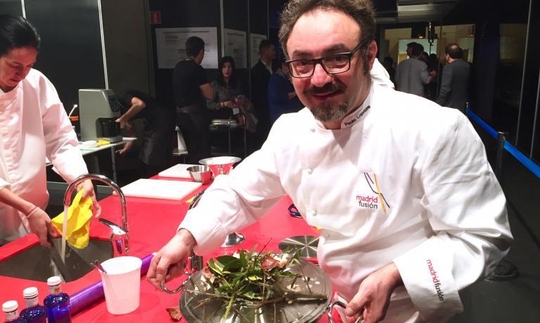 Paolo Lopriore aMadrid Fusiónmostra orgoglios