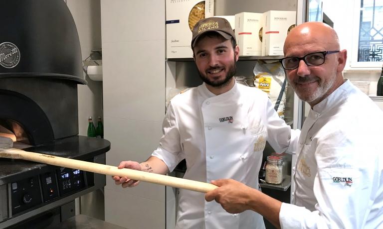 Gabriele Tangari con Franco Pepe