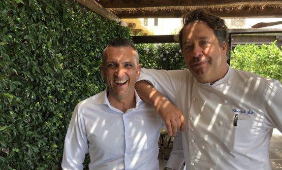 Christoph Bob (a destra) con il suo maitreAlessandro Passagrilli