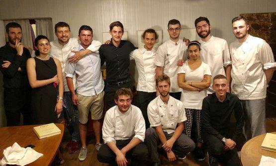 Lo staff del ristorante Dina di Gussago, Brescia.