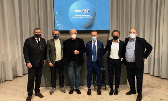I protagonisti della conferenza stampa a Identità