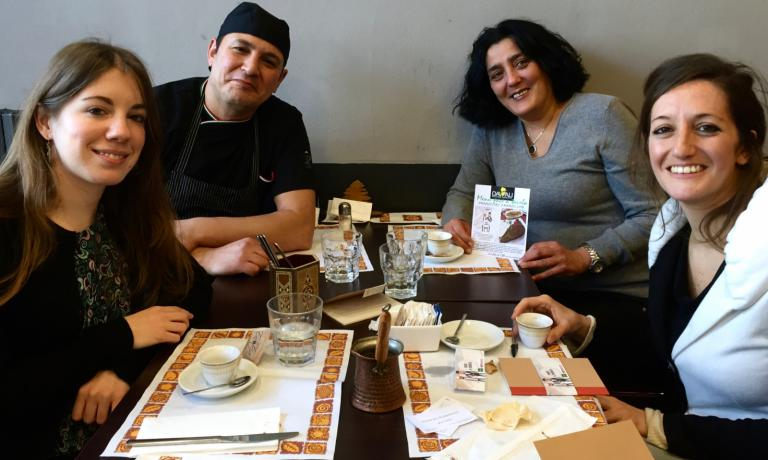 Da sinistra, Maryam Turrini, Ali Khalil, Angela Ferrario e Miriam Camerini