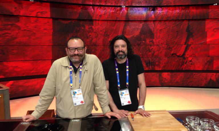 I due autori del programma: Raffaele Bruscella, a sinistra, e Andrea Boin