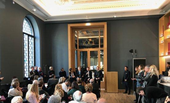 La conferenza stampa di presentazione con Alessandro Negrini, Stefania Moroni, Michele Coppola, Fabio Pisani, Michele De Lucchi