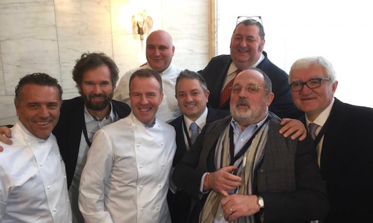 Giancarlo Perbellini, Carlo Cracco, Simone Padoan, Pietro Zito, Marco Reitano, Max Bergami, Paolo Marchi, Antonio Santini