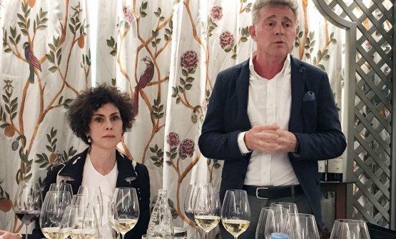 Luisa Todini con l'enologo Maurilio Chioccia