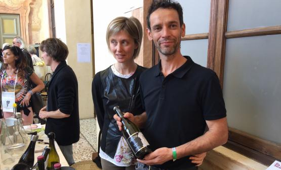 Cristiana e Riccardo Meggiolaro dell'azienda Meggiolaro di Roncà, in provincia di Verona