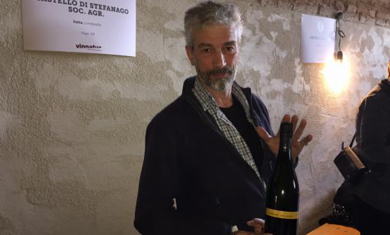 Giacomo Baruffaldi dell'azienda Castello di Stefanago, con sede a Borgo Priolo, Oltrepò Pavese