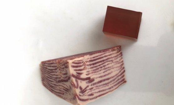 1987 - Millefoglie di lingua di vitello e foie gras con gelatina al Porto, Cascinale Nuovo